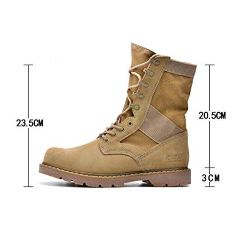 Scarpe casual maschile vestito alpinismo autunno all'aperto [fondo morbido] stivali slip on marrone-nero-marrone Lunghezza piede=43.5EU