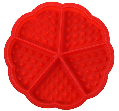 - Waffle Silicone Mold - 5 Cavity Heart-shaped Faffle Silicone Mold By Royal Blade