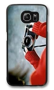 Camera Custom Samsung Galaxy S6/Samsung S6 Case Cover Polycarbonate Black