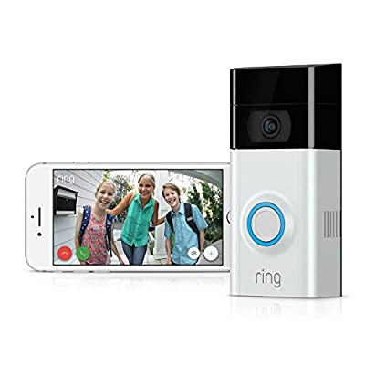 RING Video Doorbell 2 w/ Bonus Chime + 1-Yr Video Cloud Recording + 2 Interchangeable Faceplates
