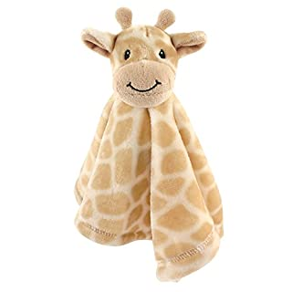 Hudson Baby Unisex Baby Animal Face Security Blanket, Giraffe, One Size