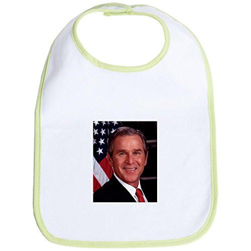 CafePress - George W. Bush Bib - Cute Cloth Baby Bib, Toddler Bib