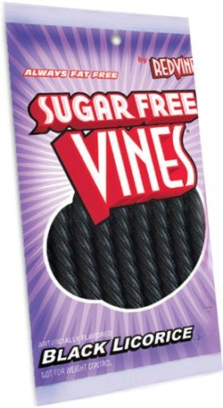 Sugar Free Vines, Black Licorice, 5 oz (Black Vines)