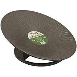 """Treadmill Wheel (14"""" Black) : All-Metal Exercise Wheel for Chinchillas, Prairie Dogs, Rats, Hedgehogs, Sugar Gliders, Squirrels, Degus, Hamsters & Other Small Animals - Smooth, Fast, Silent, Durable"""