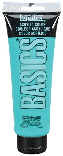 Liquitex BASICS Acrylic Paint 8.45-oz tube, Bright Aqua Green