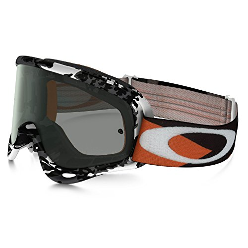 Oakley O-Frame MX Flight Series Falcons Men's Dirt Off-Road Motorcycle Goggles Eyewear - White/Dark Grey / One Size Fits All Frame Off Road Goggles