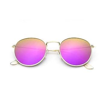 CCGSDJ Gafas De Sol Redondas Pequeñas para Mujer Retro ...