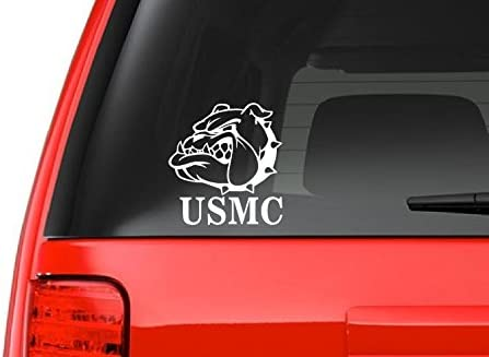 Once a Marine always a Marine Bull Dog Round decal Sticker