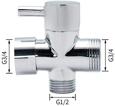 Yitang 真鍮G1 / 2 G3 / 4浴室のシャワー蛇口Adapte Tコネクタセラミックカートリッジ3ウェイダイバータトイレビデShattafタップバルブ (Color : G3 4)