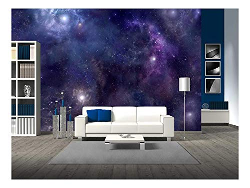 wall26 - Deep Space Wide Background Website Header - Removable Wall Mural | Self-Adhesive Large Wallpaper - 100x144 -