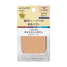 Shiseido AQUALABEL UV Foundation | AKARUI TSUYA HADA PACT OC10 Orchre 11.5g Refill