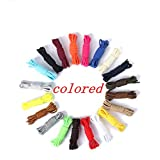 20 pairs Athletic 45 Inch SHOELACES Sport Sneaker Boots Shoe Laces Strings (Round) (Color: Round, Tamaño: 110cm * 0.8cm)