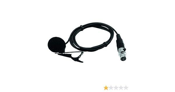 Omnitronic 13056003 LS-105 WAMS-05 XLR - Micrófono de corbata ...