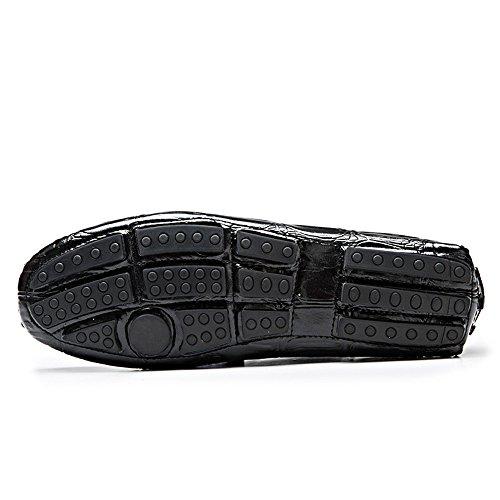 coccodrillo casual a 42 Scarpe in vera Slip Ofgcfbvxd Color Nero uomo Dimensione EU pelle Mocassini pelle di Wider per in di Fitting Leggero coste On velluto Nero SSPqwR68n
