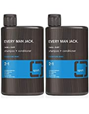 Every Man Jack 2-in-1 Shampoo + Conditioner - Swim + Surf | 13-ounce Twin Pack |