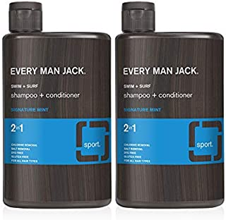 product image for Every Man Jack 2-in-1 Shampoo, Swim + Surf, 13.5-ounce (TWIN PACK)