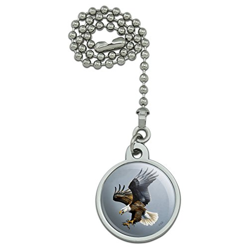 GRAPHICS & MORE Screaming Bald Eagle Diving Catching Prey Ceiling Fan and Light Pull Chain