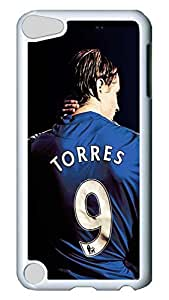 GOOD For iPod Touch 5, iPod Touch 5 Case, Hot Sale Chelsea Fc Fernando Torres Protective Hard PC Plastic Case Cover for Apple iPod Touch 5 5th Generation White