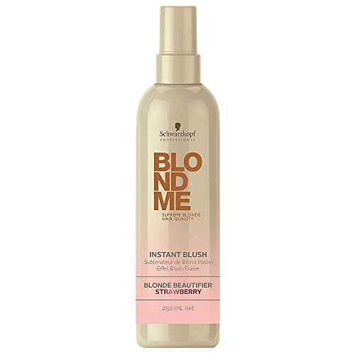 Schwarzkopf Professional BlondMe Instant Blush Temporary Hair Color 250ml (Strawberry) (Blonde Strawberry)