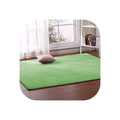 Thick Coral Fleece Carpet Living Room Coffee Table Sofa Blanket Children's Room Mat Bedroom Bedside Bay Window Rectangular Rug,4,100 X200Cm