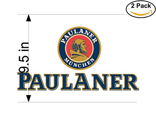 paulaner-munchen-2-beer-logo-alcohol-4-vinyl-stickers-decal-bumper-window-bar-wall-95-inches