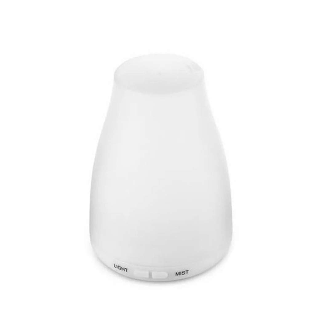 Makifly 120ML Mini Ultrasonic Cool Mist Humidifier, Aroma Diffuser Essential Oil Aromatherapy Humidifier, White by Makifly