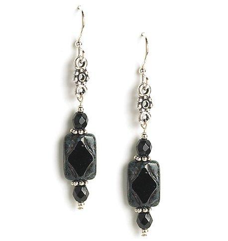 bdda83920 Amazon.com: Jody Coyote Earrings GD665S-01 Caravan Collection silver black  dangle e41: Jewelry