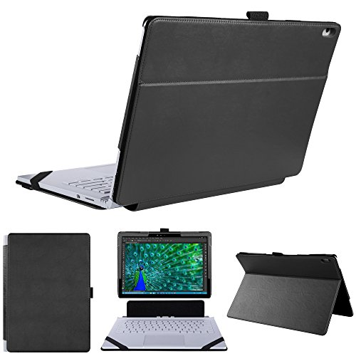 KuRoKo Case for Surface Book 2/1,2 in 1 Kickstand Book Style case for Mirosoft Surface Book 2/1 13.5 inch Laptop (V2(Black)) by KuRoKo