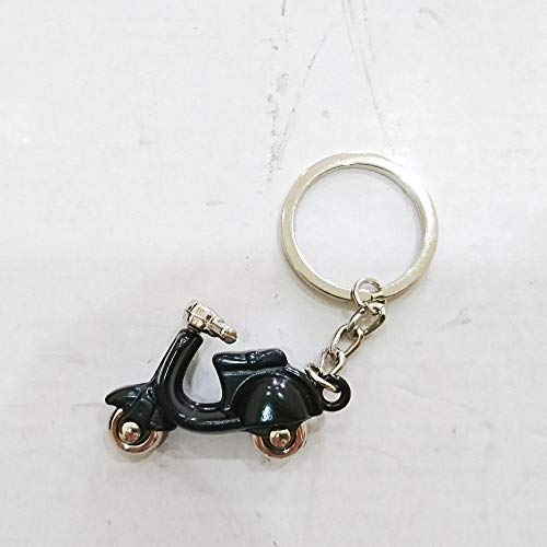 (Automotive Keychain Key Ring Key Tag Black Color For Aftermarket Universal Vehicle Car Motorcycle Bike Accessories For Example Scooter Motor Vintage Old School Style Enthusiasts Fans Collection)