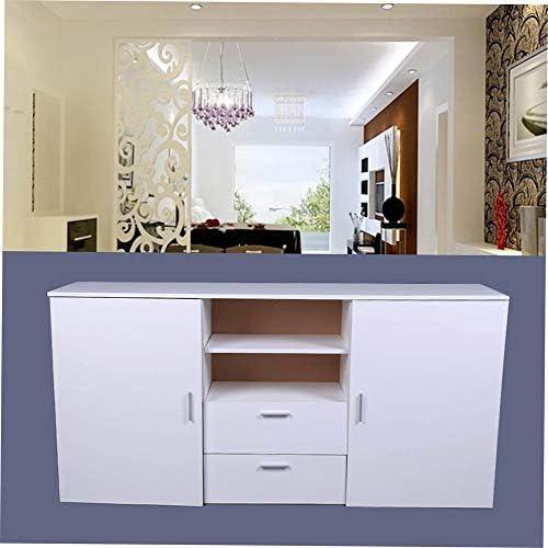 JICHUI Professionali Grandi 2 Porte 2 cassetti Credenza cassettiera TV Cabinet Banco Universal Home Mobili DX-H108 Bianca