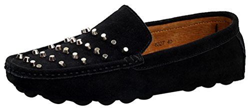 CFP 8327 Mens Slip-on Studden Casual Loafers Driving Flannel Sneakers Black UK Size 7 LmWoIP5i0