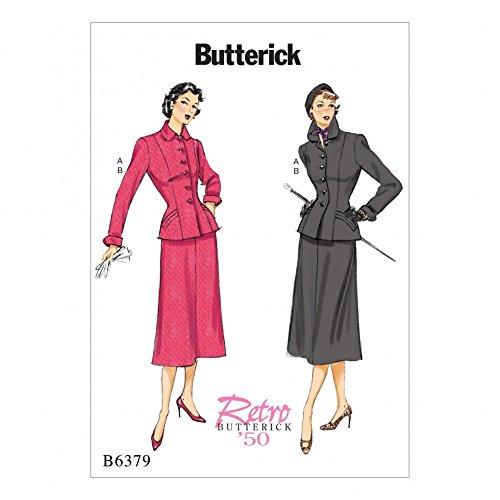 Butterick patrón de costura para mujer 6379 Vintage estilo traje ...