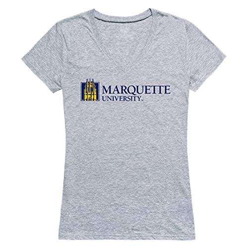 Marquette University Golden Eagles NCAA Women's Seal Tee T-Shirt Heather Grey XXL ()