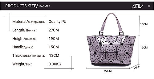 Geometry Laser Handbags Plain Pink Folding Quilted Tote Shoulder Bags Pink gUnWqOO6