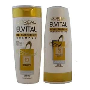 L'oreal Elvital Re-Nutrition Shampoo For Long-Lasting Softness & Shine 250ml