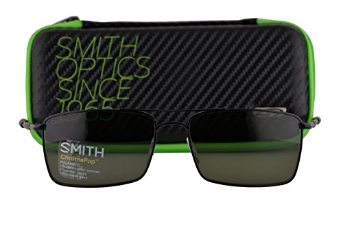 Smith Outlier Ti Sunglasses Matte Black w/Polarized Gray Green Lens - Gomez Selena Glasses Sun