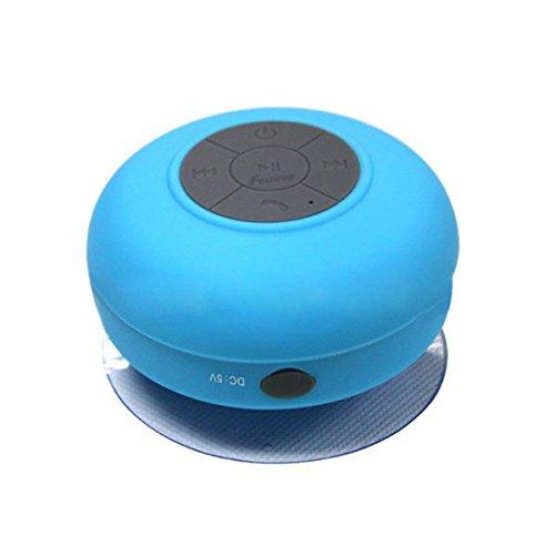 Azul Celulares Uonlytech BTS-06 Mini Altavoz Bluetooth Manos Libres Impermeable con Ventosa Mic para iPhone//iPad