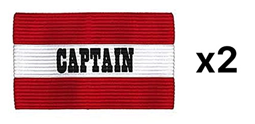 Champion Youth Soccer Captains ARM Band Available IN Redblue Red CYP-RED (2Pack) ()