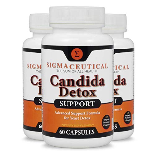 3 Pack of Candida Cleanse - Yeast Infection Treatment - Oral Thrush Treatment - Organic Probiotic Support - Ultimate Cleanser for Men and Women - Free Candida Diet eBook - 60 Capsules Each