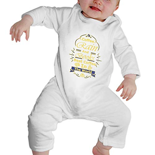 KAYERDELLE Coffee Rain and Books Best Coffee Long-Sleeve Unisex Baby Outfit for 6-24 Months Boys & Girls]()