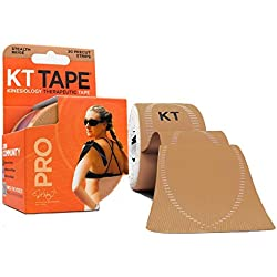 KT Tape Pro Kinesiology Therapeutic Sports Tape, 20 Precut 10 inch Strips, Stealth Beige