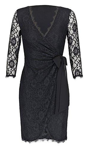 Ju Fashion Funda vestido vestido de encaje Julie, Negro negro