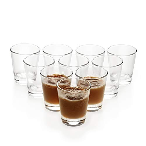 1.5 oz Shot Glasses Sets with Heavy Base, Clear Shot Glass (10 - 1.5 Ounce Shot Glass