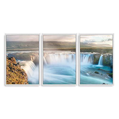 Framed for Living Room Bedroom Scenery Theme for x3 Panels