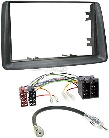 Carmedio Fiat Panda 03 12 2 Din Autoradio Einbauset In Original Plug Play Qualität Mit Antennenadapter Radioanschlusskabel Zubehör Und Radioblende Einbaurahmen Grau Navigation