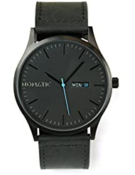 The Nomatic Leather Band Water Resistant Watch - Black