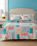 Martha Stewart Collection Flower Patch Quilt Twin Reversible