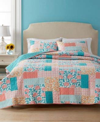 Martha Stewart Collection Flower Patch Quilt Twin Reversible ()