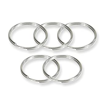 Marine 30mm 316 Stainless Steel Key Rings Heavy Duty Split Rings for scuba gear 10 piece