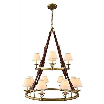 """Elegant Lighting Cascade 37"""" 12 Light Chandelier"""